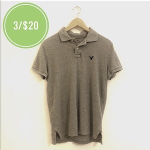 3/$20 American Eagle Outfitters Gray Polo Shirt